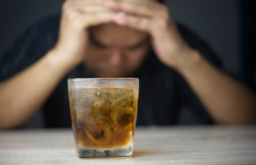 man going through alcohol withdrawal